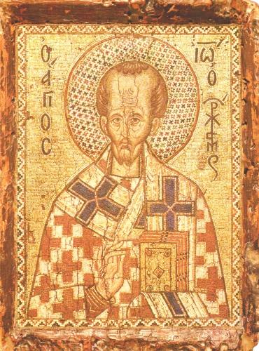 058[amolenuvolette.it]1351 1400 saint jean chrysostome icone en mosaïque constantinople.jpg